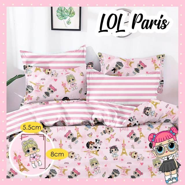 sprei-Bedcover-star-lol-paris-pink