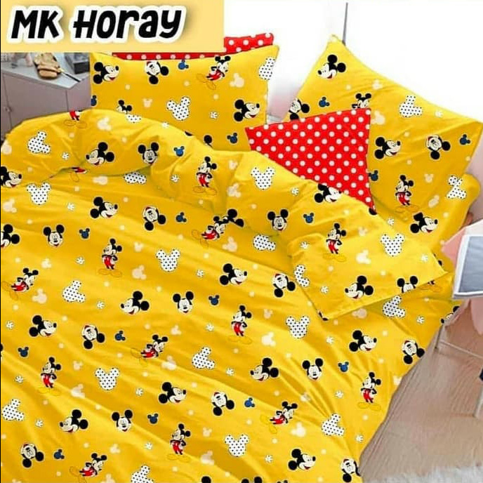 sprei-Bedcover-star-mk-hooray-kuning