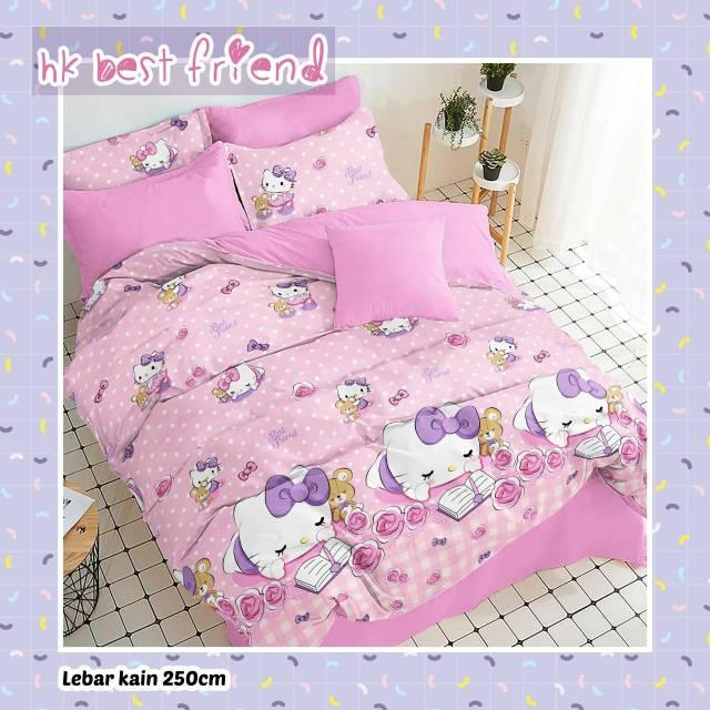 sprei-bedcover-star-hk-best-friend-pink
