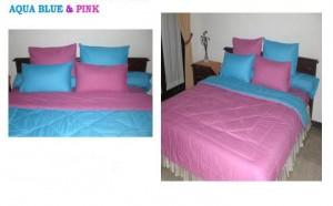 aqua blue n' pink