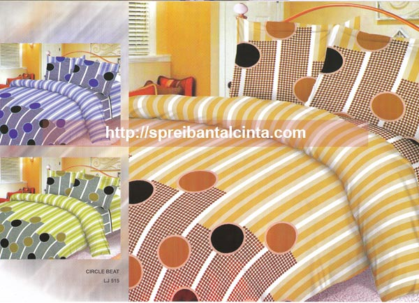  Kain sprei dan bed cover yang terbuat dari katun CVC dengan motif Circle Beat. Nyaman, lembut dan sejuk. Motif baru , semakin memperindah kamar tidur anda dan menambah ramai...