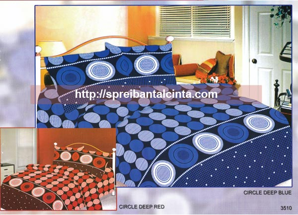 Kain sprei dan bed cover yang terbuat dari katun CVC dengan motif Circle Deep Blue Red. Nyaman, lembut dan sejuk. Motif baru , semakin memperindah kamar tidur anda dan menambah...