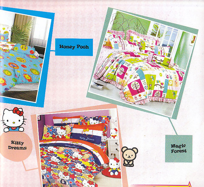 Grosir Sprei Bintang Kecil Kitty Dreams, Honey Pooh, Magic Forest