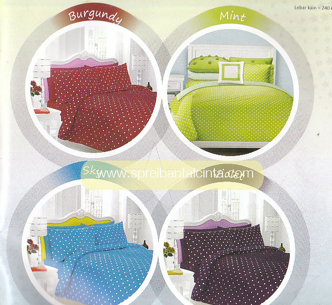 Sprei Star Burgundy, Mint, Sky Dottie