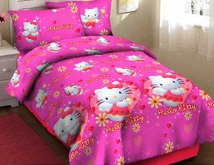 Bedcover Hello Kitty heart fortuna