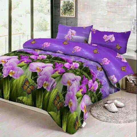 Jual Sprei Fortuna Anggrek ungu