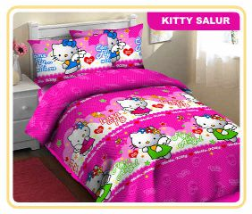 Jual Sprei Hello Kitty salur fortuna