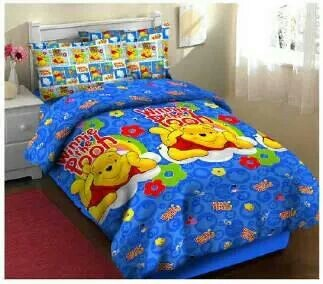 Jual bedcover Fortuna, Grosir Bedcover Fortuna, Sprei Hello pooh fortuna