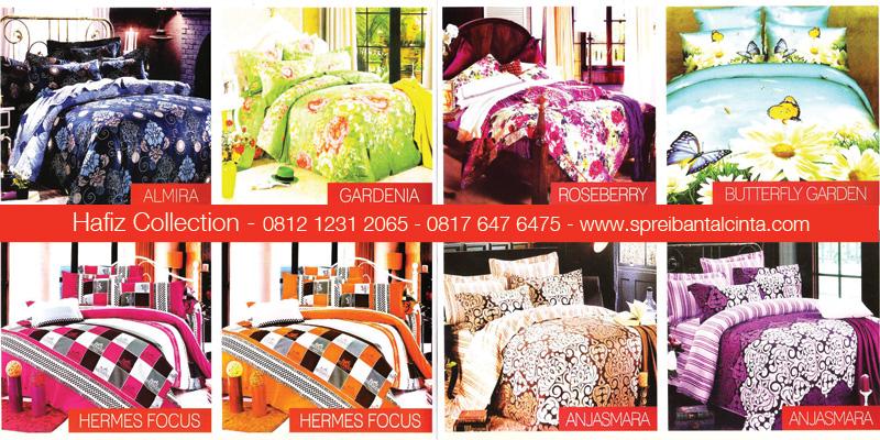 Katalog-Sprei-Star,-Almira,-Bedcover-Gardenia,-Hermes-Focus,-Roseberry,-Butterfly-Garden,-Anjasmara