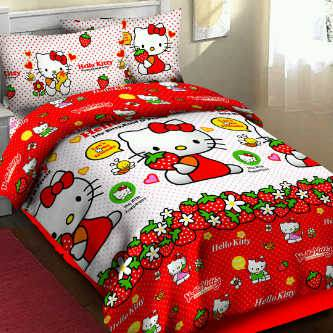Sprei Bedcover Kitty sweet fortuna