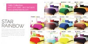 Sprei-Polos-Star,-Sprei-Pelangi-Rainbow,-Sprei-Warna,-Bedcover-Polos