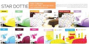 Sprei-Star-Dottie, Bedcover Dottie, Toko Bedcover Tanah Abang
