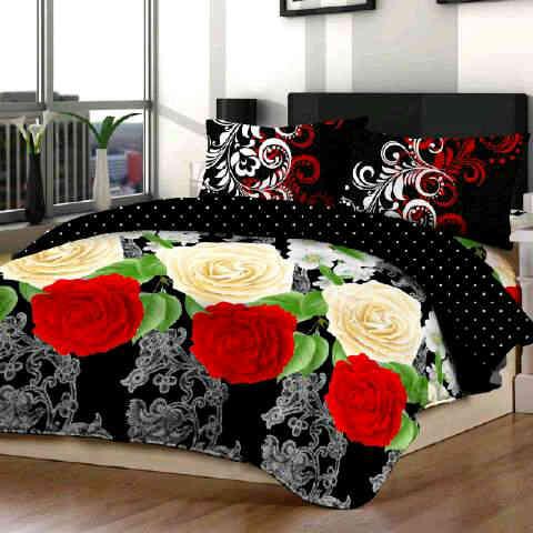 dropship sprei Black roses htm fortuna