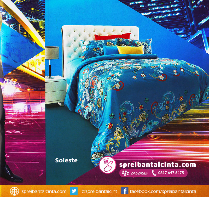 25. Bedcover-star-soleste,-sprei-star-soleste,-bahan-sprei-soleste,-bahan-bedcover-soleste