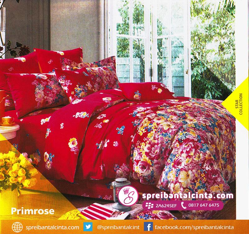 33. sprei-star-primrose,-bedcover-star-primrose,-bedcover-bunga-warna-merah,-star-sprei-bunga,-sprei-motif-bunga-warna-merah