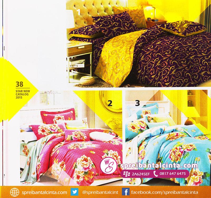 38. Sprei-motif-batik-dan-bunga,-sprei-bedcover-motif-bunga