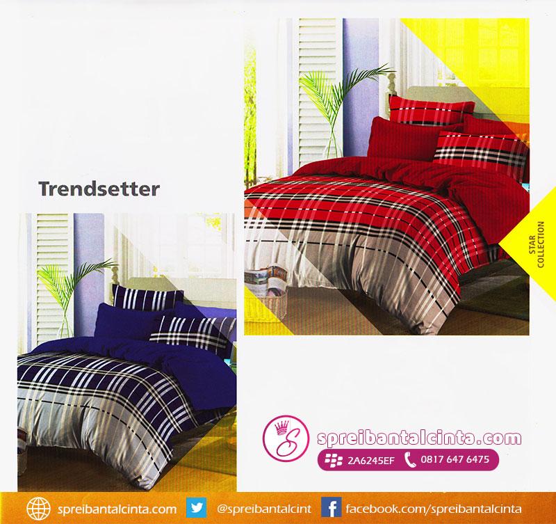 41. sprei-trend-setter,-bedcover--trend-setter,-Bedcover-star-motif-kotak-garis