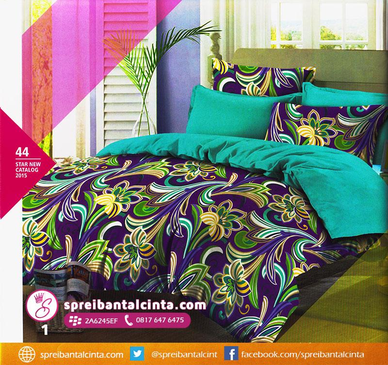 44. sprei-warna-ungu,-sprei-warna-cyan,-bedcover-warna-ungu,-bedcover-warna-tosca