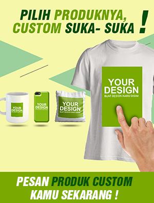 Custom E-money, Custom Casing HP Jakarta, Custom Kaos Satuan, Custom Bantal Satuan