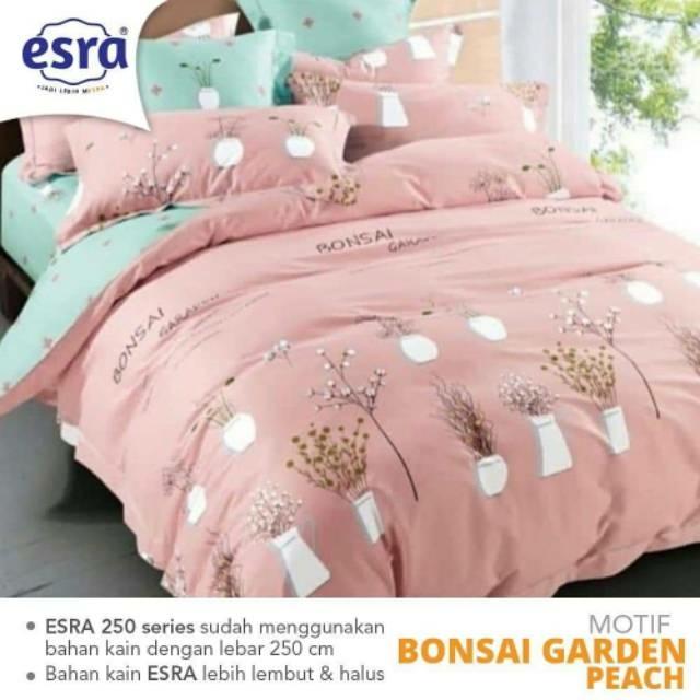 sprei-bedcover-esra-bonsai-garden-peach