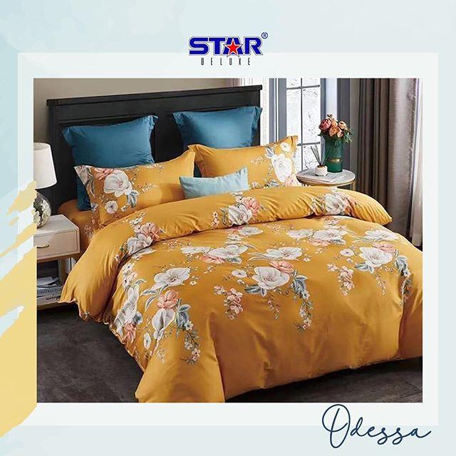 sprei-bedcover-star-odessa-kuning