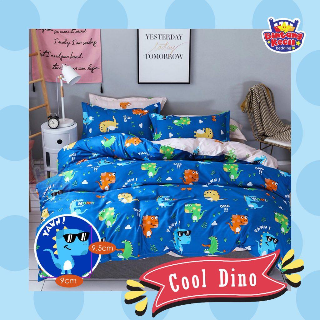 sprei-Bedcover-star-cool-dino-biru