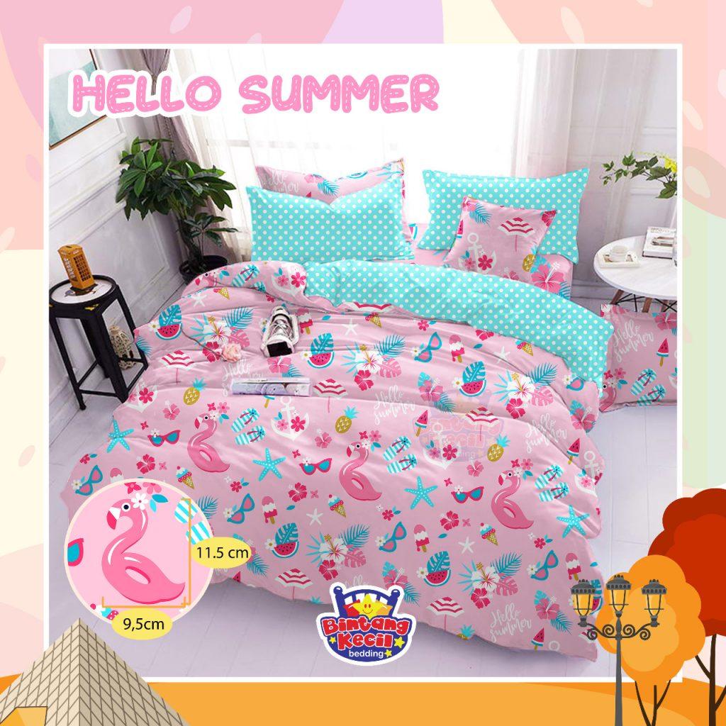 sprei-Bedcover-star-hello-summer-pink