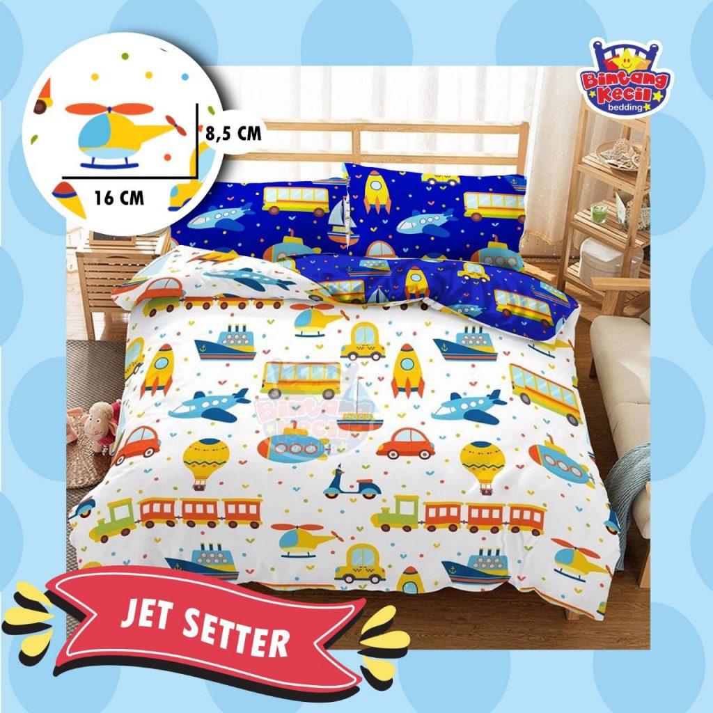 sprei-Bedcover-star-jet-setter-putih
