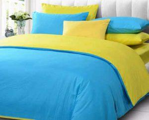 Sprei-bedcover-sky-blue-vs-lemon