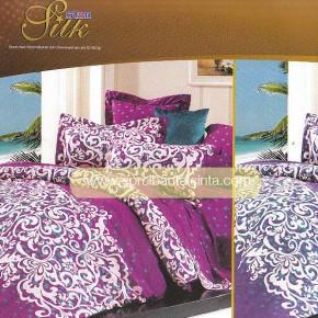 Motif Sprei Star Batik Ungu Silk
