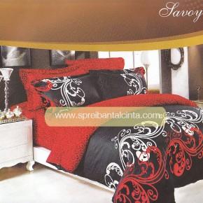 Grosir Bedcover Sprei Star Savoy Batik Merah Hitam