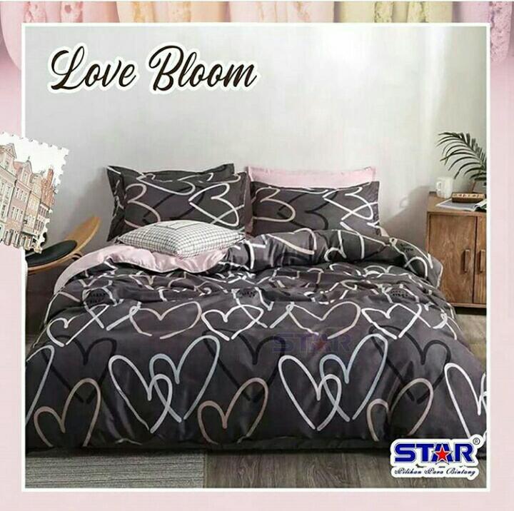 Sprei-bedcover--love-bloom-dark