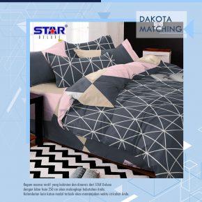 sprei-bedcover-star-dakota-matching