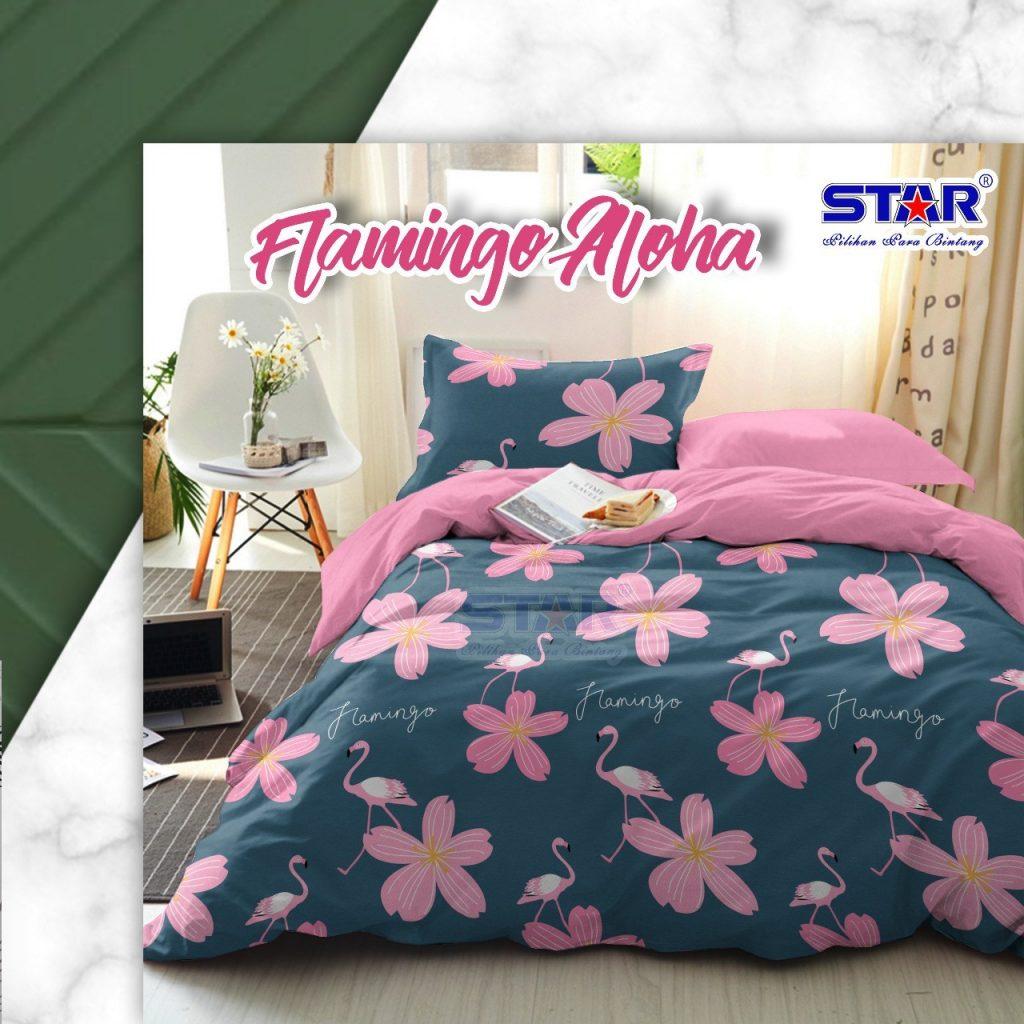 sprei-bedcover-star-flamingo-aloha-biru-katalog