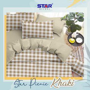 sprei-bedcover-star-picnic-khaki