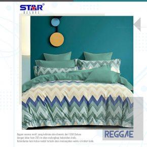 sprei-bedcover-star-reggae-hijau