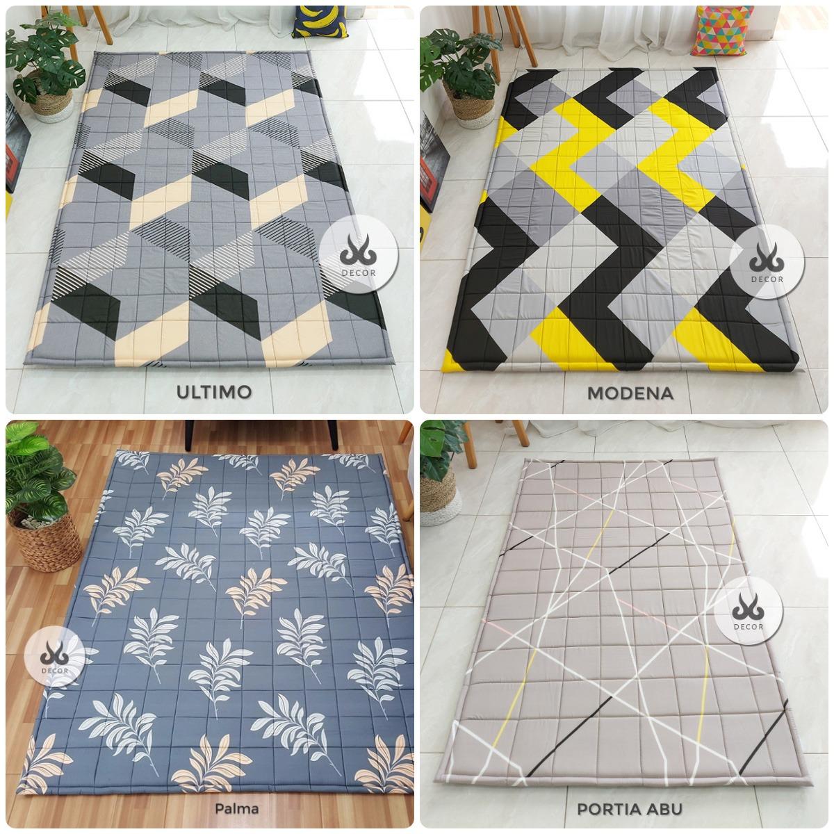 Karpet-Bahan-Katun-Dengan-busa-dan-alas-bintik-anti-slip-di-bagian-bawahnya-Ultimo-Modena-Palma-Portia-Abu-1